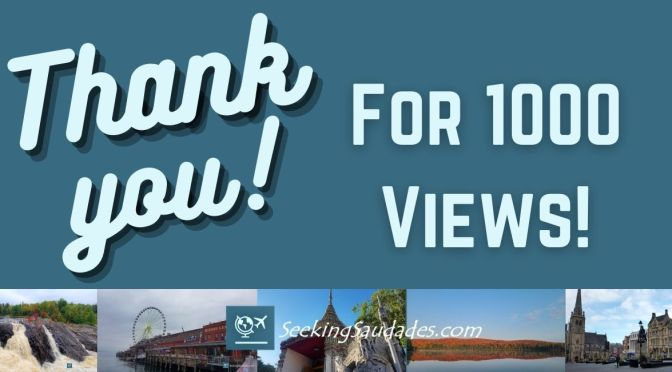 Thank You for 1000 Views!